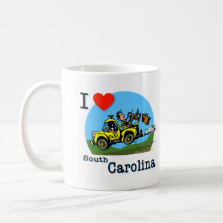 Mug J'aime le taxi de pays de la Caroline du Sud