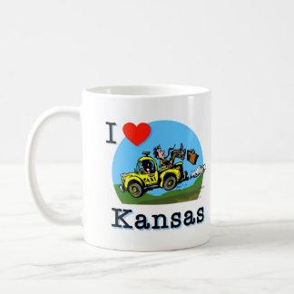 Mug J'aime le taxi de pays du Kansas