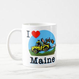 Mug J'aime le taxi de pays du Maine