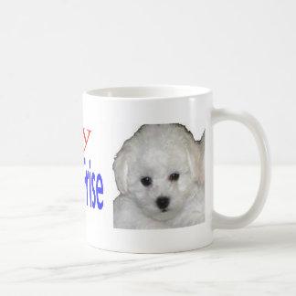 Mug J'aime mon chiot de frise de bichon