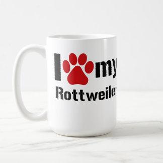 Mug J'aime mon rottweiler