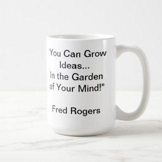 Mug Jardin de votre citation d'esprit par M. Rogers