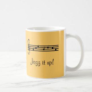 Mug Jazz il vers le haut de la conception musicale