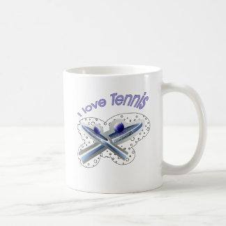 Mug Je creuse la ligne de base de tennis