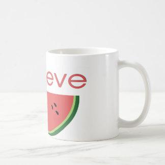 Mug Je crois à la pastèque