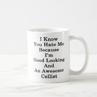 Mug Je sais que vous me détestez puisque je suis beau