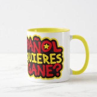 Mug Je suis espagnol À Qu'est-ce que veux-tu que