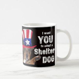 Mug Je veux que VOUS adoptiez un chien d'abri