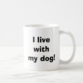 Mug Je vis avec mon chien !
