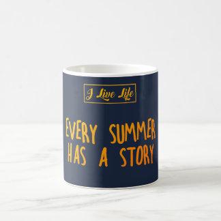 Mug Je vis citation d'été de la vie où CHAQUE ÉTÉ A