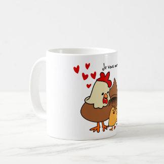 Mug Je vous aime mes poussins!
