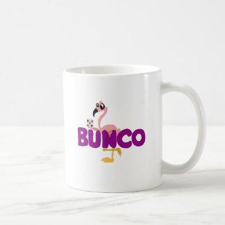 Mug Jeu drôle de matrices de Bunco et flamant rose