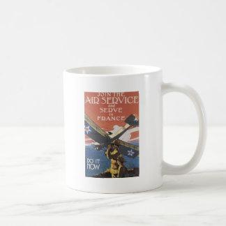 "Mug ""Joignez le service aérien"" circa 1917"