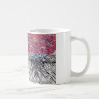 Mug Joli rose abstrait et gris