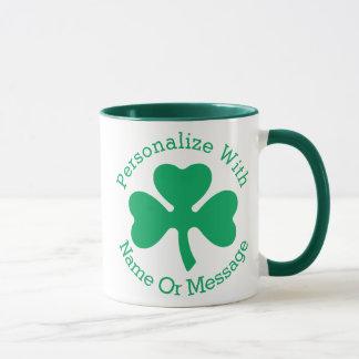 Mug Jour de la Saint Patrick PERSONNALISÉ de shamrock