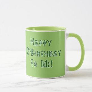 Mug Joyeux anniversaire de Jour de la Saint Patrick à