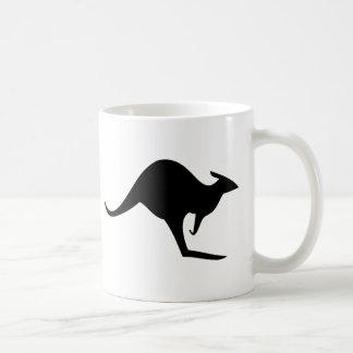Mug kangourou australien noir - australie