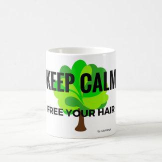 Mug keep calm free your hair