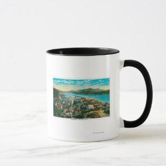 Mug Ketchikan, vue de ville de l'Alaska - la première
