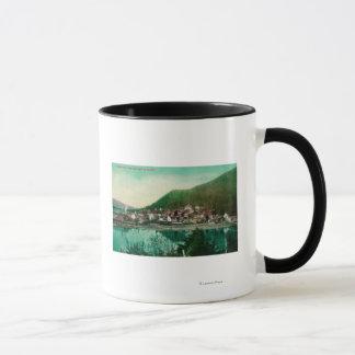 Mug Ketchikan, vue de ville de l'Alaska - première