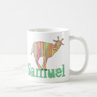 Mug La conception colorée rayée d'art de chèvre