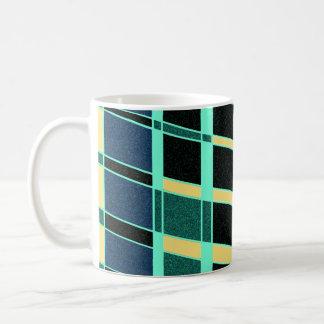 Mug La conception géométrique d'art moderne barre la
