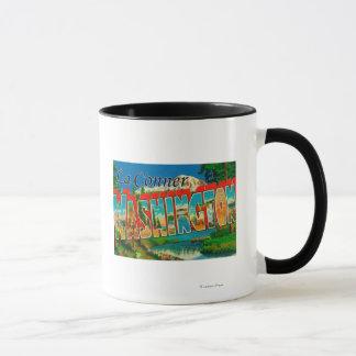 Mug La Conner, Washington - grandes scènes de lettre