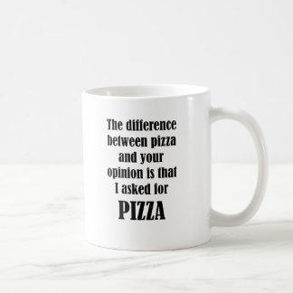 Mug La différence entre la pizza et votre avis