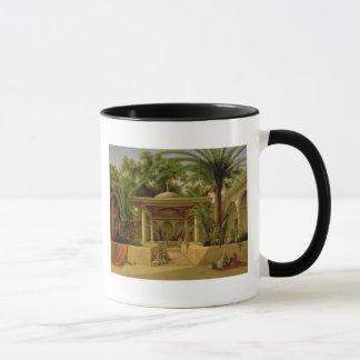 Mug La fontaine de Khabanija, le Caire, 1845