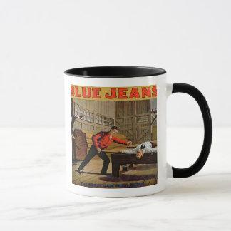 """Mug """"La grande scène de scierie"""", affiche pour des"""