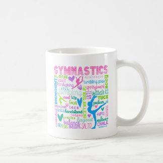 Mug La gymnastique en pastel exprime la typographie
