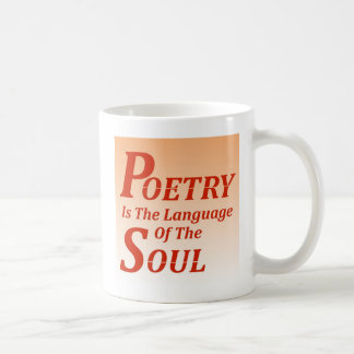Mug La poésie est la langue de l'âme : Version 2