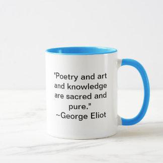 Mug La poésie et l'art et la connaissance sont sacrés