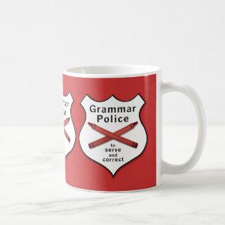 Mug La police de grammaire Badge