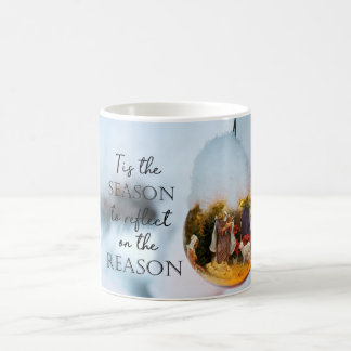 Mug La raison de la scène de nativité de saison