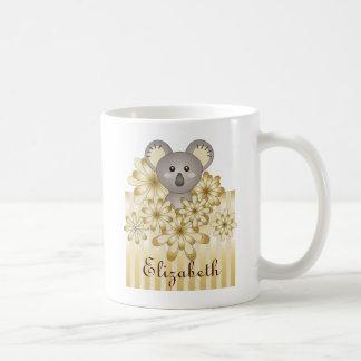 Mug La rayure animale mignonne d'effet d'or de koala