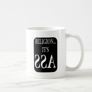Mug la religion est vers l'arrière
