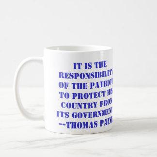 Mug La responsabilité du patriote