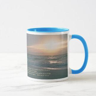 Mug La Salida del Sol d'escroquerie de Mateo 5-44,45