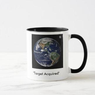 "Mug La terre de l'espace ""cible acquise """