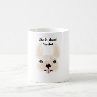 Mug La vie est courte ! Sourire !