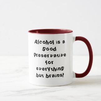 Mug L'alcool est un bon agent de conservation pour