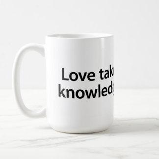 Mug L'amour prend où la connaissance cesse