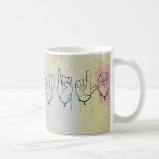 """Mug Langue des signes """"sourire """""""