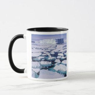 Mug L'Antarctique, écoulement de glace