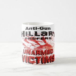 Mug L'Anti-Arme à feu Hillary préfère les victimes