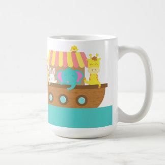 Mug L'arche de Noé, animaux mignons sur le navire