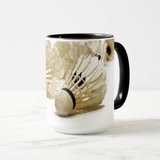 Mug Le badminton folâtre la navette