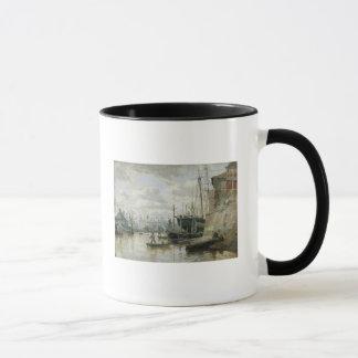 Mug Le cabine de rondin au port de Hambourg, 1848