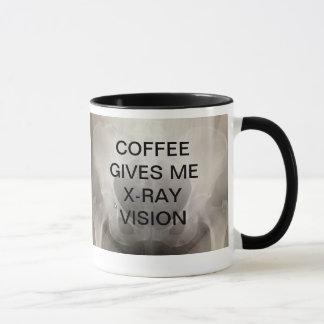 MUG LE CAFÉ ME DONNE LA VISION DE RAYON X